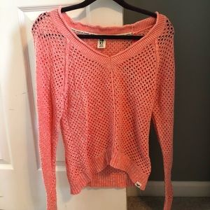 Roxy sweater in peach (size large)